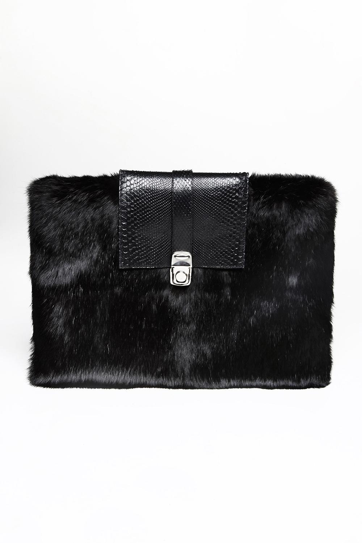 Rabbit fur and python skin clutch / Drop 2 / Mark Molnar