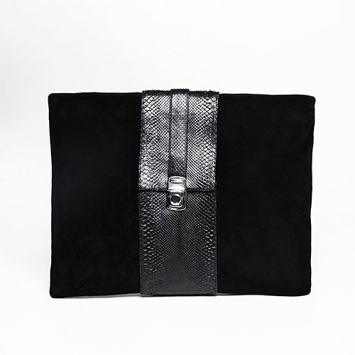 Suede and python skin clutch / Drop 2 / Mark Molnar