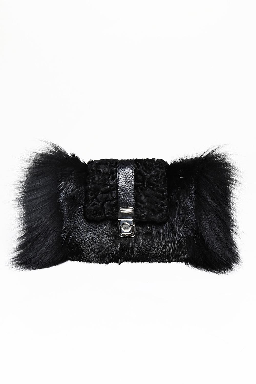 Musquash, swakara, silver fox fur clutch / Drop 2 / Mark Molnar