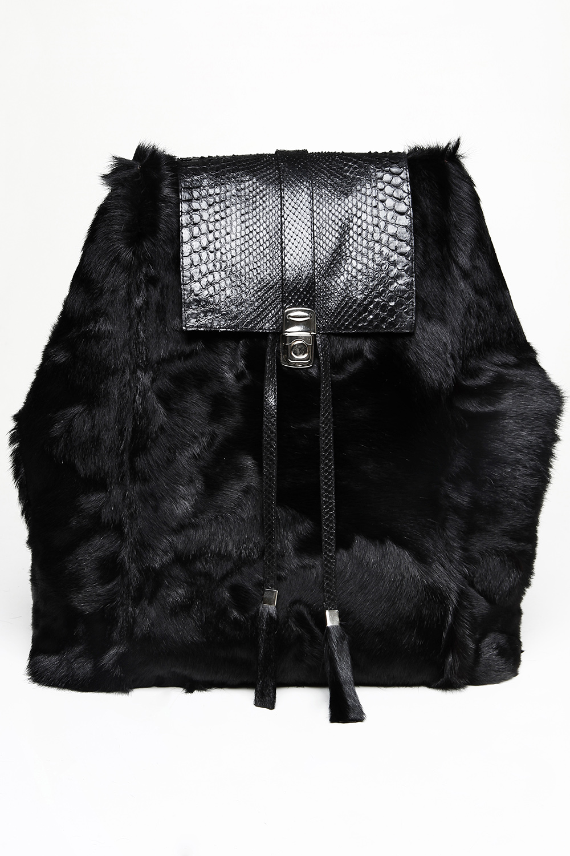 Goat fur and python skin backpack / Drop 2 / Mark Molnar