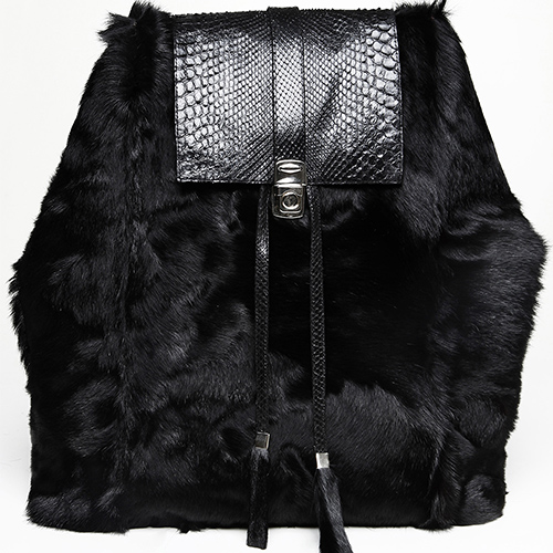 Goat fur and python skin backpack / Drop 2 / Mark Molnar