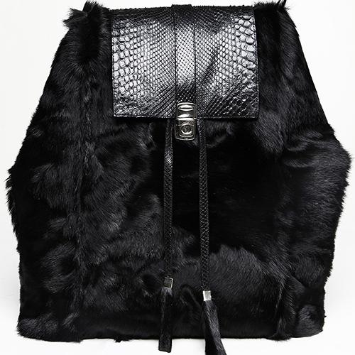 Goat fur and python skin backpack / Spring-Summer 2014 / Mark Molnar