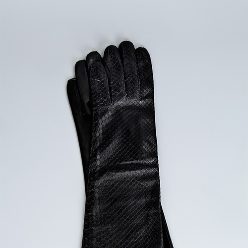Lambskin and Python Skin Medium Length Glove / Drop 1 / Mark Molnar